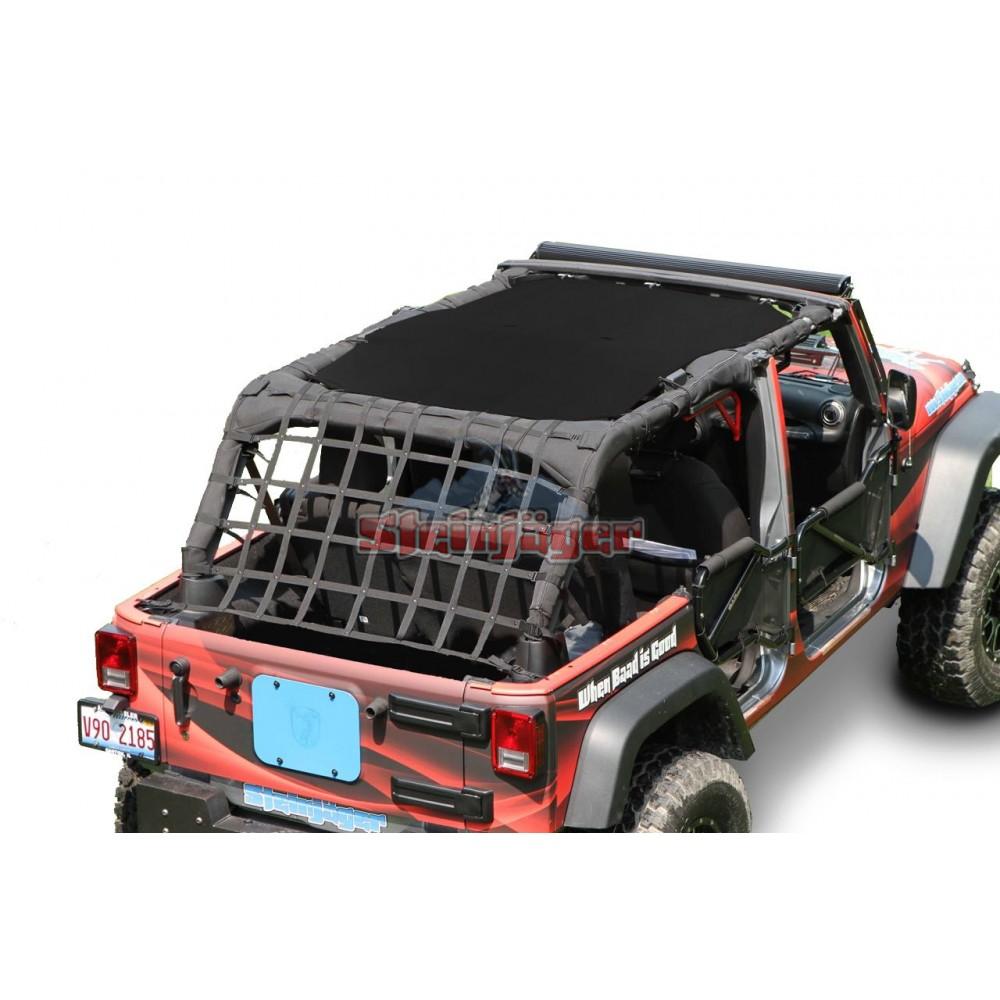 Jeep Wrangler Jk Tops Fabric Teddy 2010 2018 4 Door Black Steinjager
