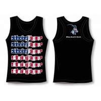 Black with USA Flag Tank Tops