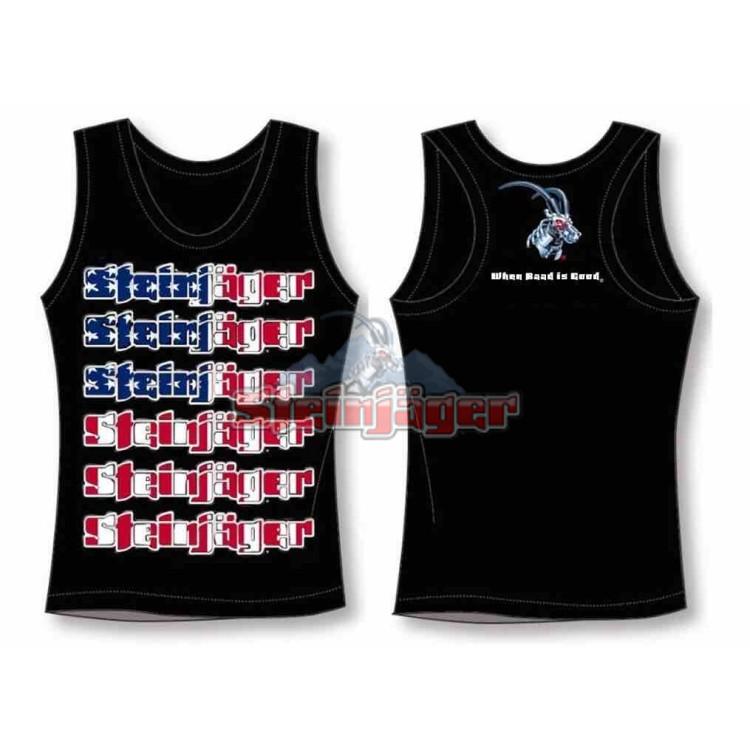 Tank Tops Black with USA Flag