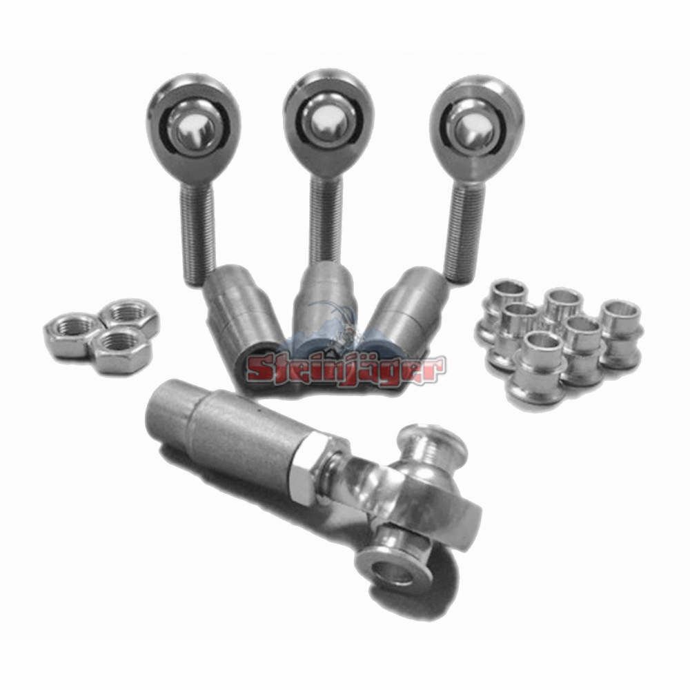 Nylon 8 Inserts Rod End Kits M12 x 1.75 RH and LH Chrome Moly Steinjager Heims