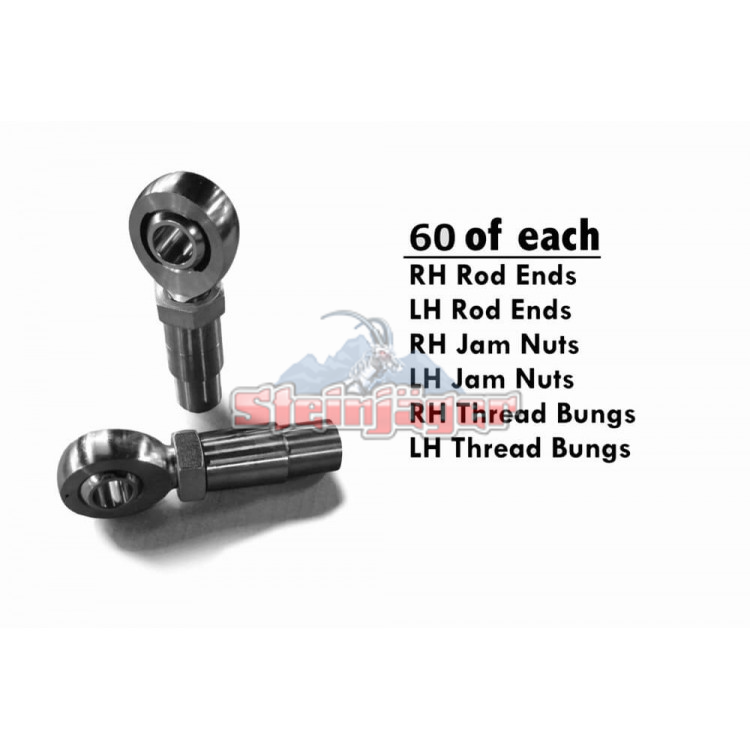 Rod End Kits Heims, Nuts, Bungs