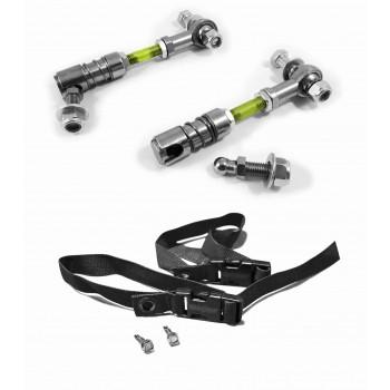 Sway Bar Disconnect End Link Kit, Front Wrangler JK