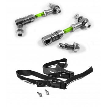 Sway Bar Disconnect End Link Kit, Front Wrangler JK