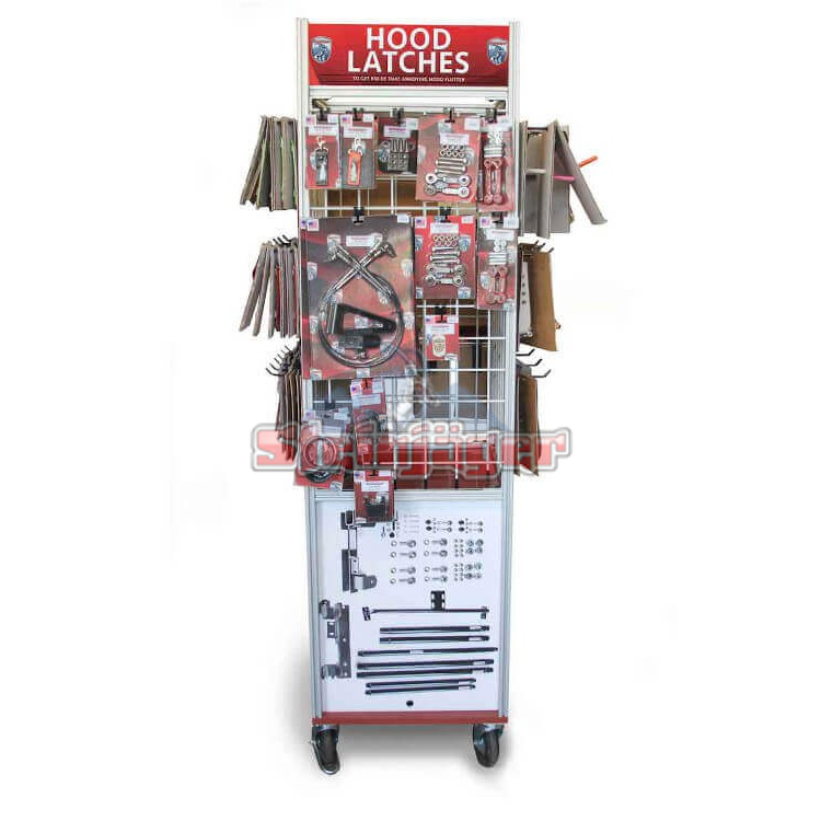 Dealer Retail Display Tower Rack, 4 Sided
