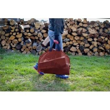 Burgundy Log Carrier