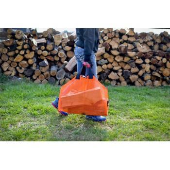 Orange Log Carrier