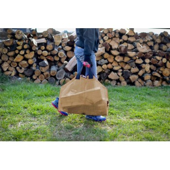 Tan Log Carrier