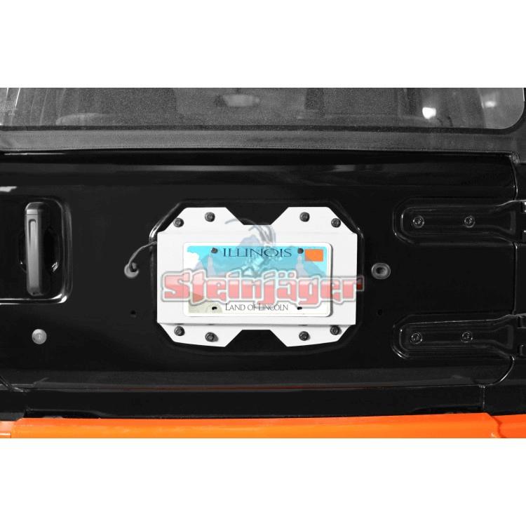 Wrangler JL Rear License Plate Relocator