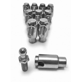 Quick Disconnect Plated Steel Cable Ball Joints