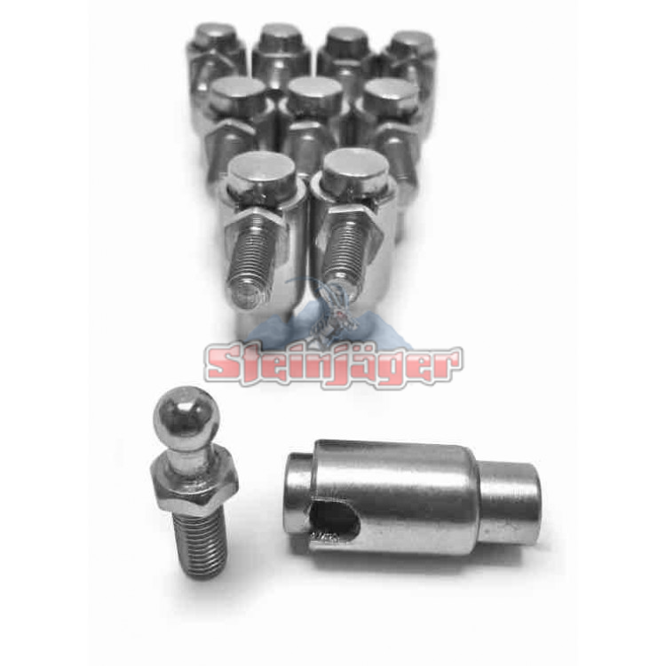 Cable Ball Joints Quick Disconnect Plated Steel